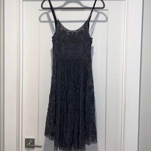 Johnny Was/Biya Embroidered Mesh Dress with Slip